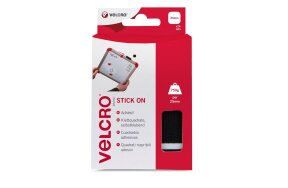 VELCRO STICK ON SQUARES 25x25mm BLACK